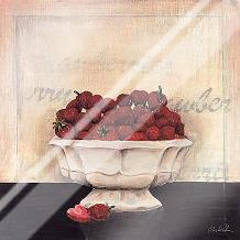 Un Desrt De Fraises art print poster with laminate