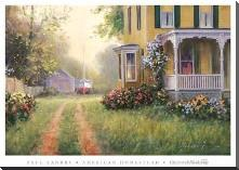 American Homestead art print poster with block mounting