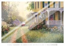 American Homestead art print poster with laminate