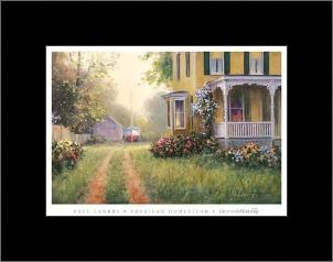 American Homestead art print poster with simple frame