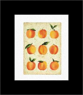 Peach Collage art print poster with simple frame