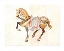 Dynastic Horses II art print poster with laminate