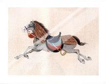 Dynastic Horses IV art print poster with laminate
