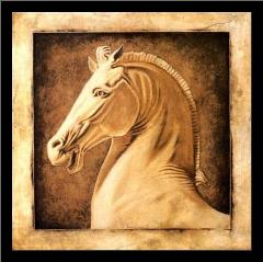 Equus art print poster with simple frame