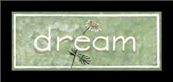 Dream art print poster with simple frame