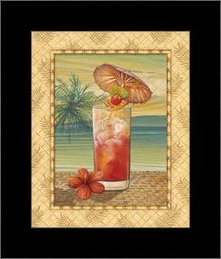 Island Nectar III art print poster with simple frame