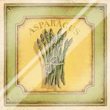 Asparagus art print poster with laminate