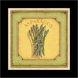 Asparagus art print poster with simple frame