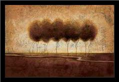 Abstract Landscape IV art print poster with simple frame