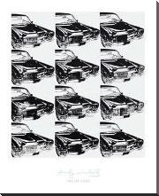 Twelve Cars, 1962 art print poster with block mounting