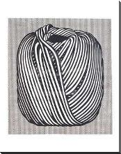 Ball Of Twine, 1963 art print poster with block mounting
