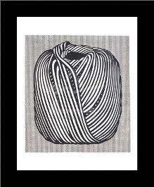 Ball Of Twine, 1963 art print poster with simple frame