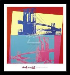 Brooklyn Bridge, 1983 art print poster with simple frame