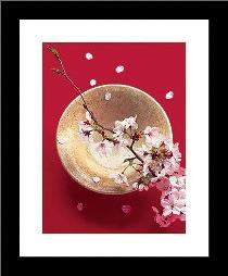 Blooming Bowl art print poster with simple frame