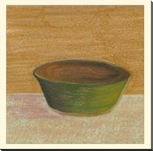 Rustic Bowl II art print poster with block mounting