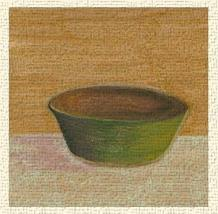 Rustic Bowl II art print poster transferred to canvas