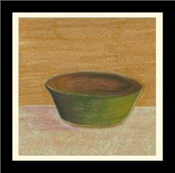 Rustic Bowl II art print poster with simple frame