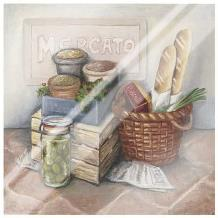 Mercato II art print poster with laminate