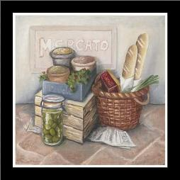 Mercato II art print poster with simple frame