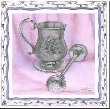Heirloom Cup Rattle II art print poster with block mounting