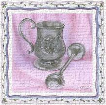 Heirloom Cup Rattle II art print poster transferred to canvas
