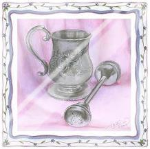 Heirloom Cup Rattle II art print poster with laminate