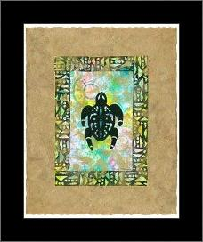 Ancient Amphibians I art print poster with simple frame