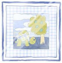 Turtle with Plaid (Pp) I art print poster with laminate