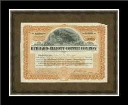 Hubbard Elliot Copper Co art print poster with simple frame