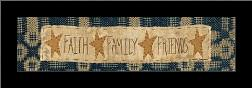 Faith * Family * Friends art print poster with simple frame