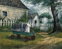 Antique Wagon art print poster transferred to canvas