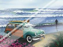 Surf City art print poster with laminate