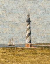 View From The Lighthouse II art print poster transferred to canvas