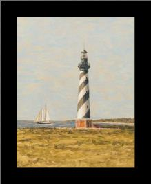 View From The Lighthouse II art print poster with simple frame