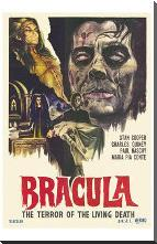 Dracula the Terror of the Living Dead art print poster with block mounting