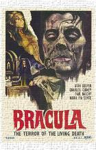 Dracula the Terror of the Living Dead art print poster transferred to canvas