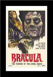 Dracula the Terror of the Living Dead art print poster with simple frame