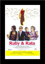 Ruby and Rata art print poster with simple frame