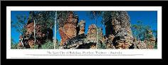 The Lost City of Bukalara, Northern Territory - Australia art print poster with simple frame