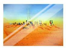 Walkabout Camp art print poster with laminate