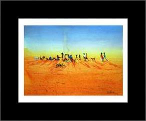 Walkabout Camp art print poster with simple frame