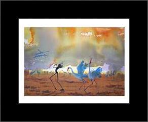 Dancers on the Claypan art print poster with simple frame
