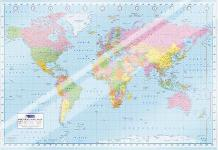 World Map art print poster with laminate