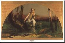 Ophelia art print poster with block mounting