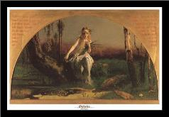 Ophelia art print poster with simple frame