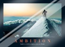 Ambition art print poster with laminate