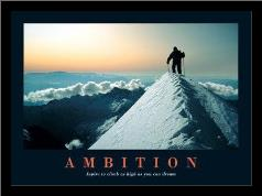 Ambition art print poster with simple frame