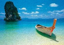 Phuket art print poster transferred to canvas