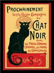 Chat Noir (Steinlein) art print poster with simple frame
