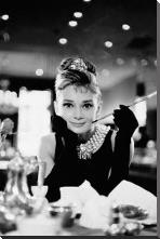 Audrey Hepburn - Breakfast At Tiffanys art print poster with block mounting